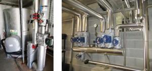Calorifugeage tuyauterie + matelas isolants sur vannes