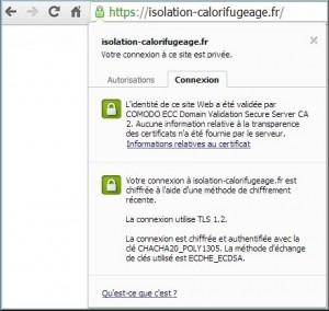 Comodo SSL 128 Vérifié