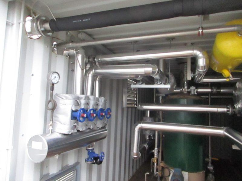 ACTISOL Calorifuge tuyauterie et vannes chaufferie mobile