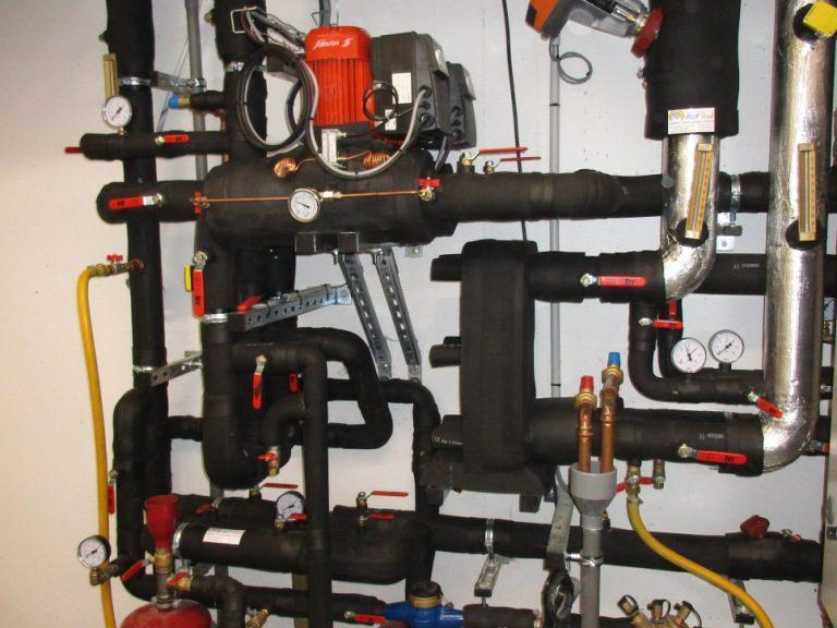ACTISOL Calorifugeage panoplie reseau eau glacee avec Armaflex hopital
