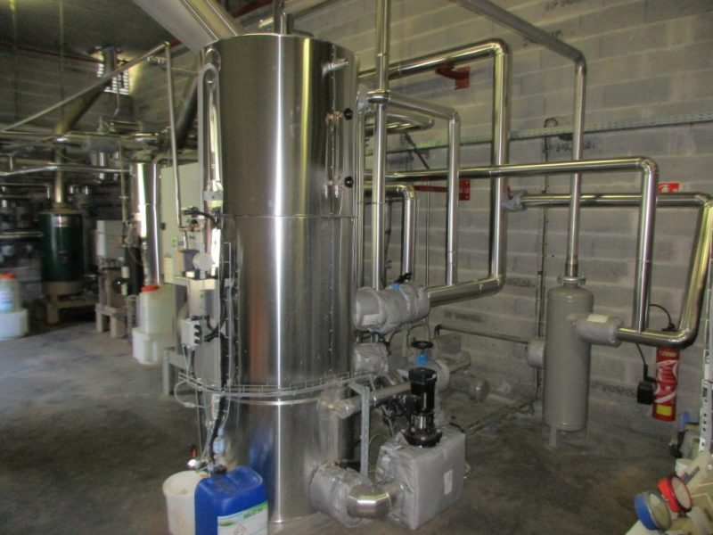 ACTISOL Isolation reseau vapeur condensats et matelas isolant chaufferie agroalimentaire