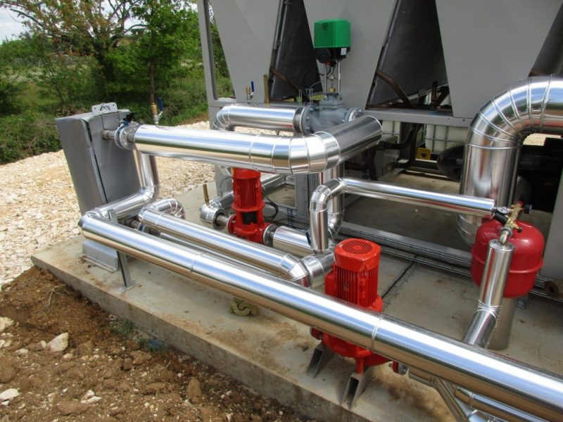 ACTISOL Isolation tuyauterie exterieure tole aluminium recuperation eau chaude