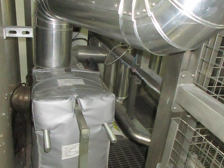Matelas isolant thermique sur echangeur - pharmaceutique Aquitaine